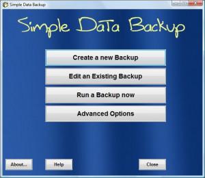 Simple Data Backup náhled pro download