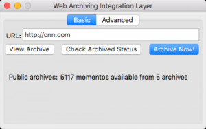 Web Archiving Integration Layer náhled pro download