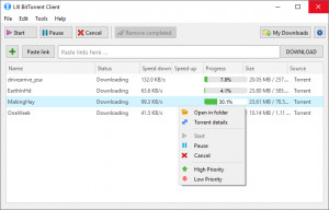 LIII BitTorrent Client náhled pro download