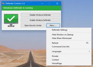 Defender Control náhled pro download