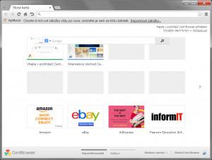 Cent Browser náhled pro download