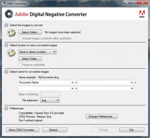 Adobe DNG Converter náhled pro download