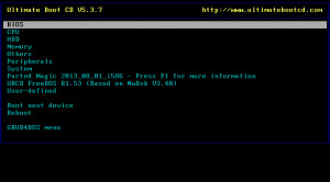 Ultimate Boot CD náhled pro download