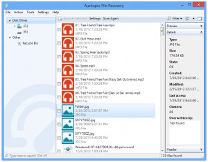 Auslogics File Recovery náhled pro download