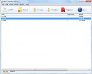 WeenyFree PDF Merger náhled pro download
