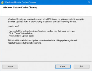 Windows Update Cache Cleaner náhled pro download