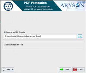 Aryson PDF Protection náhled pro download