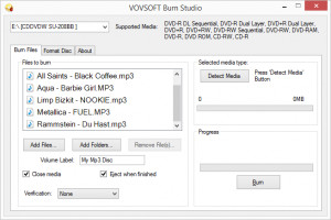 VOVSOFT Burn Studio náhled pro download