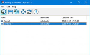 Backup Start Menu Layout náhled pro download