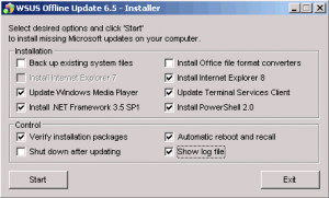 WSUS Offline Update náhled pro download