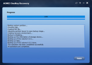 AOMEI OneKey Recovery náhled pro download