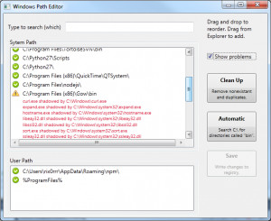 Windows Path Editor náhled pro download