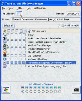 Transparent Window Manager náhled pro download