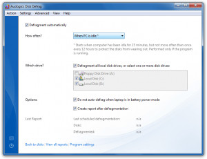 Auslogics Disk Defrag Portable náhled pro download