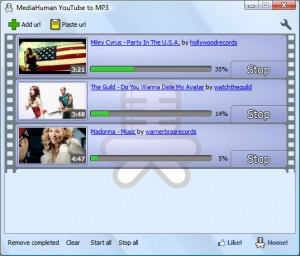 MediaHuman YouTube to MP3 Converter náhled pro download