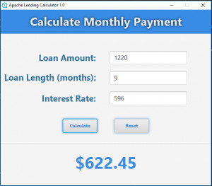 Apache Lending Calculator náhled pro download