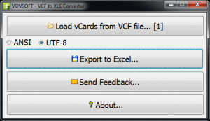 VCF to XLS Converter náhled pro download
