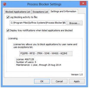 Process Blocker náhled pro download