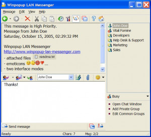 Winpopup LAN Messenger náhled pro download