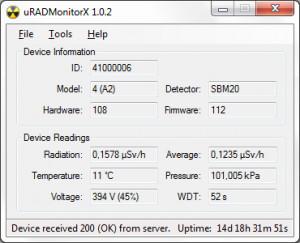 uRADMonitorX náhled pro download