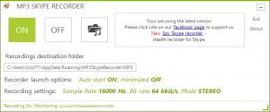 MP3 Skype Recorder náhled pro download