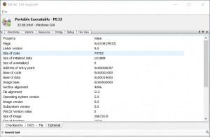 MiTeC EXE Explorer náhled pro download