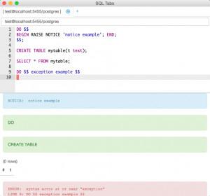 SQL Tabs náhled pro download
