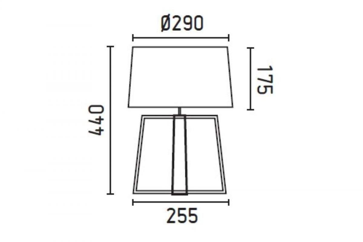 Faro Bliss Table Lamp 1L E27 60w Structure 28401