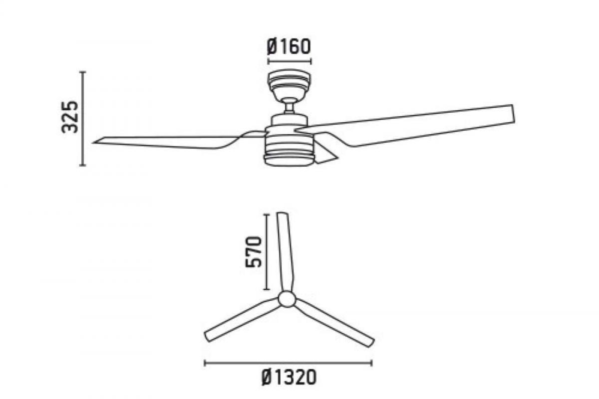 Faro Flight Hunter Fan Ceiling níquel Matt 3 33079