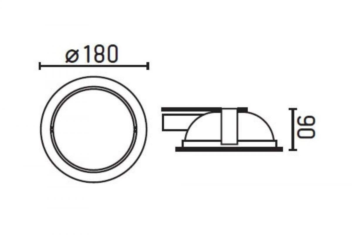 Faro Platón 1 Lamp Recessed Grey + 2 Lamp s 42801