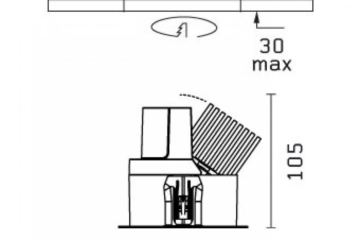 Flos Architectural Light Sniper Adjust Round For Power Led