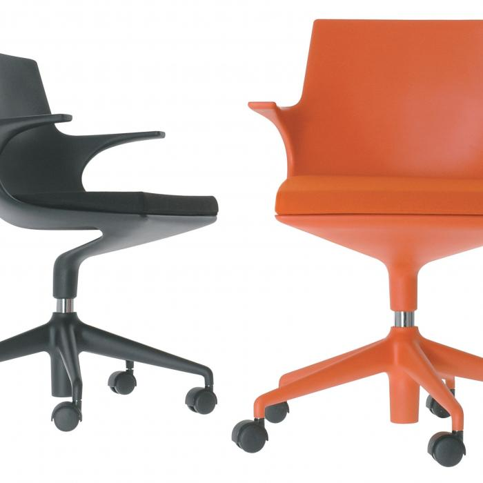 Kartell Spoon Chair silla de Oficina con ruedas 4819  Lmparas de diseo
