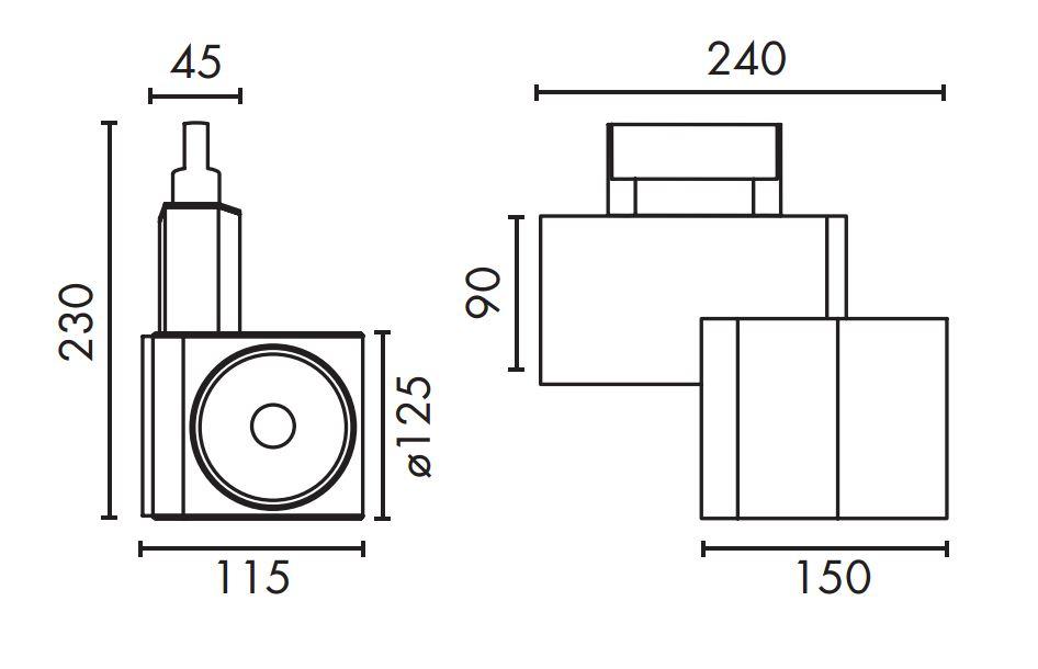 Faro Fokus projector of Track LED 26w 3100K 01045501