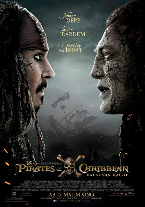 Nieuwe poster & trailer van Pirates of the Caribbean 5 met Johnny Depp & Javier Bardem