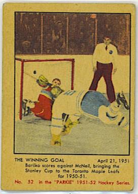 The Winning Goal - 1951-52 Parkhurst