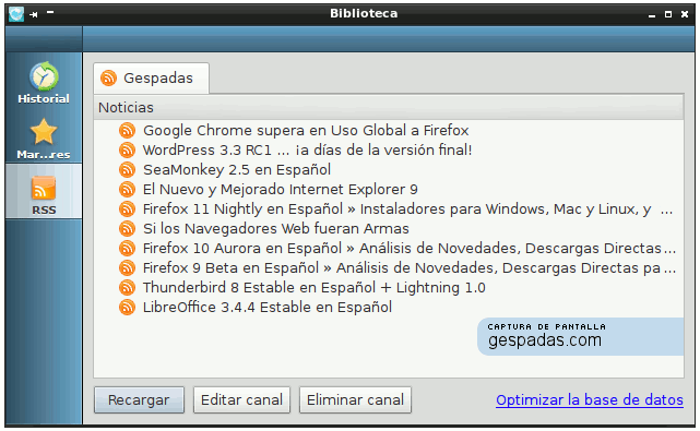 QupZilla - RSS
