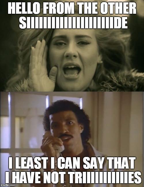 Lionel Richie Hello Meme : lionel, richie, hello, Adele, Lionel, Memes, Imgflip