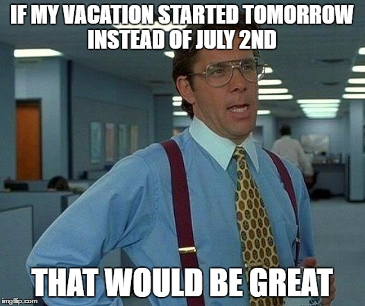 We Have Nothing Planned And I Am Staying Home The Whole Time But I Am Ready For A Few Days Off Imgflip