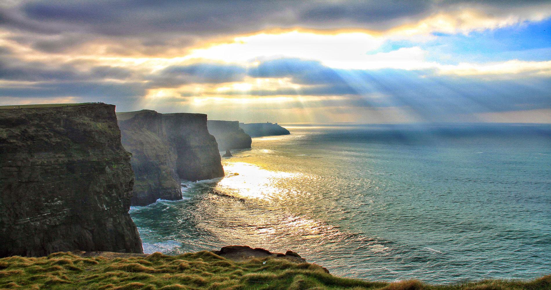 Cliffs Of Moher Ireland Blank Template