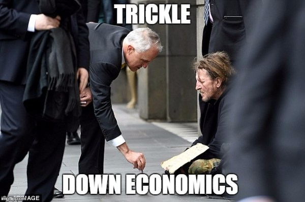 Trickle Down Economics In A Picture Imgflip