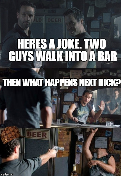 Two Blondes Walk Bar Joke