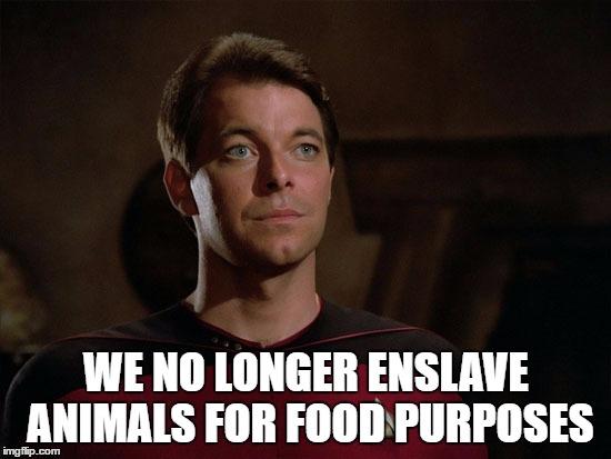 Image result for we no longer enslave animals for food