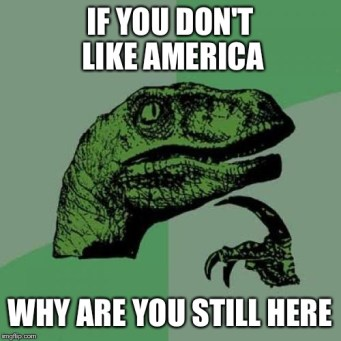 Image result for you don't like america, why are you here