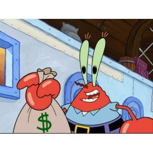 Showy Me Millionth Dollar Krabs Squidward Tentacles Patrick