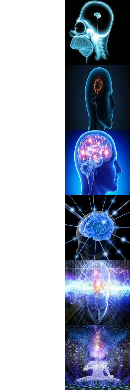 expanding brain meme template 3