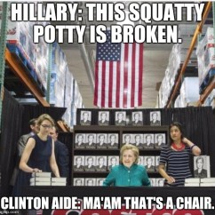 3 In 1 Potty Chair Double Wide Recliner Crazy Hillary Clinton Images - Imgflip