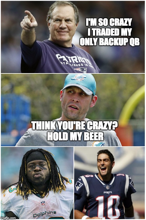 Patriots Dolphins Meme : patriots, dolphins, Patriots, Dolphins, Compete, 2017's, Craziest, Trade, Imgflip