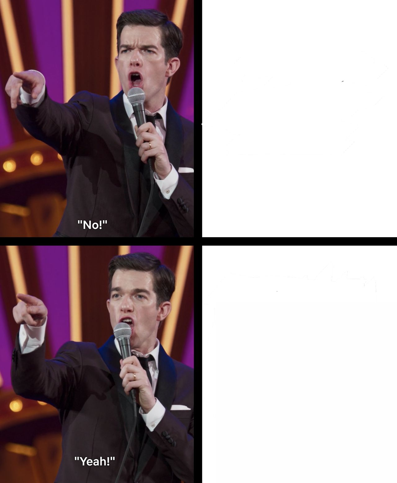 Yes No Meme Template : template, Mulaney, No/Yes, Blank, Template, Imgflip