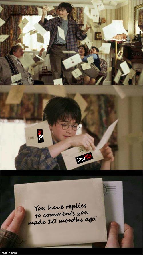 Harry Potter Letters Gif : harry, potter, letters, Harry, Potter, Hogwarts, Letter, Memes, Imgflip
