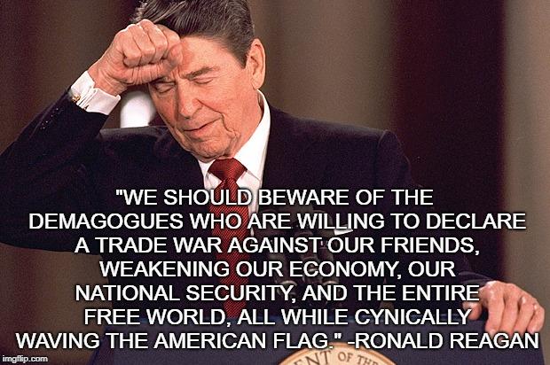 Image result for Reagan free trade meme